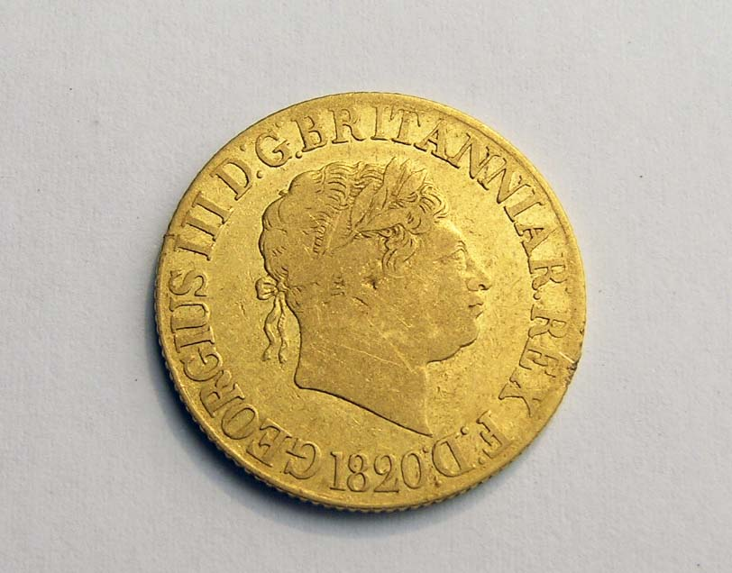 1820 Gold Sovereign found by BendigoGold Customer