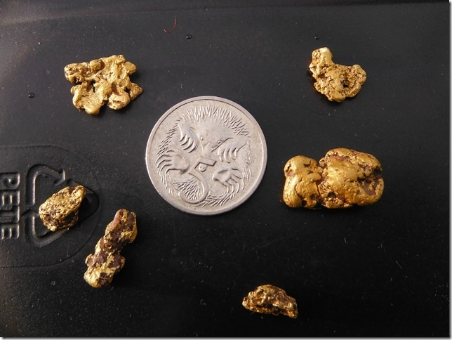 10 grms of gold nuggets