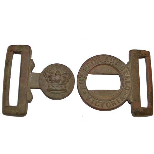 The Two Separate Pieces of the Belt Buckle