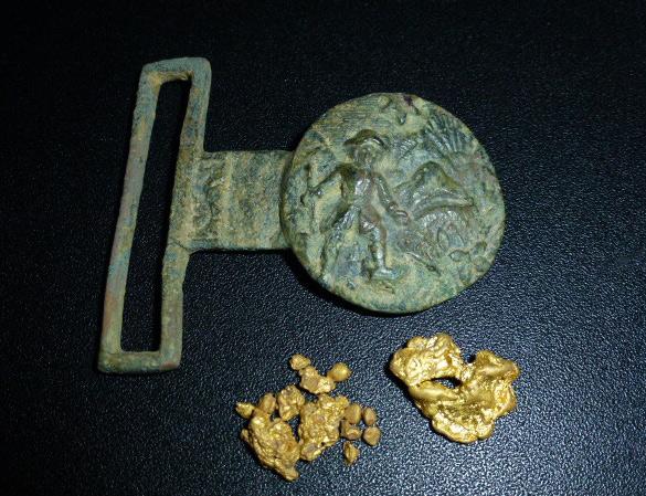 Belt Buckle & Gold Nugget Finds