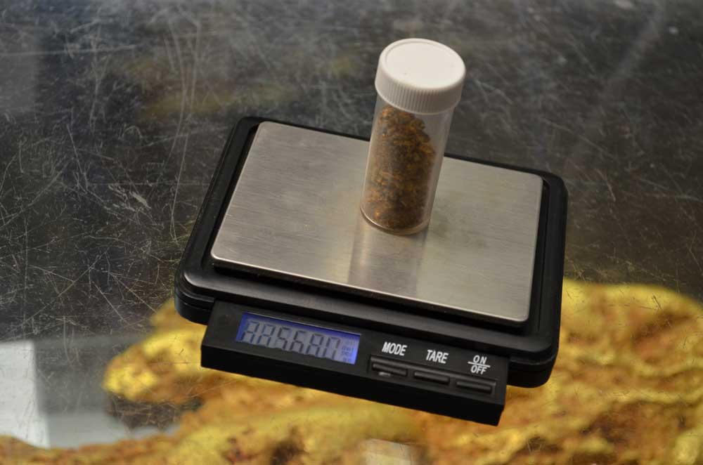 56 grams of gold found