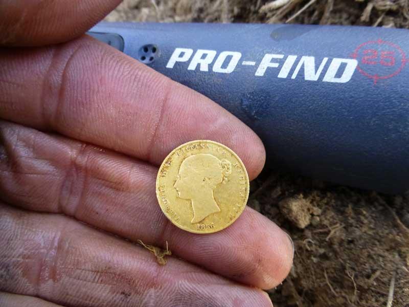 1856 Half Sovereign found with Minelab CTX 3030